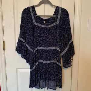 Free People tiered high low tunic - flowy sleeves